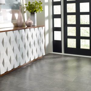 Shaw vinyl flooring Mineral Mix Lava Entry Wood | Jack's Tile And Carpet
