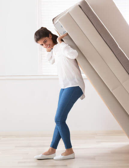woman moving furniture | Jack's Tile And Carpet
