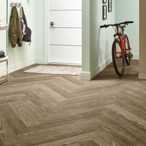 Charlestown Oak Luxury Vinyl Tile - Mocha | Vinyl flooring | Jack's Carpet And Tile