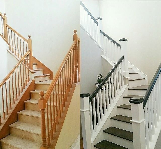Custom designed Stairs before and after | Jack's Carpet And Tile
