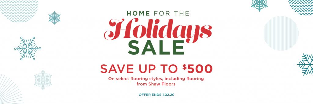 Home for the holidays sale | Jack's Carpet And Tile